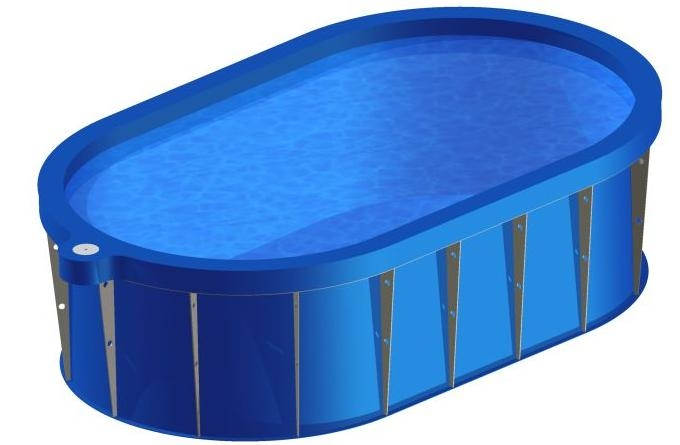 Ovalus polipropileninis baseinas (įvairių dydžių)