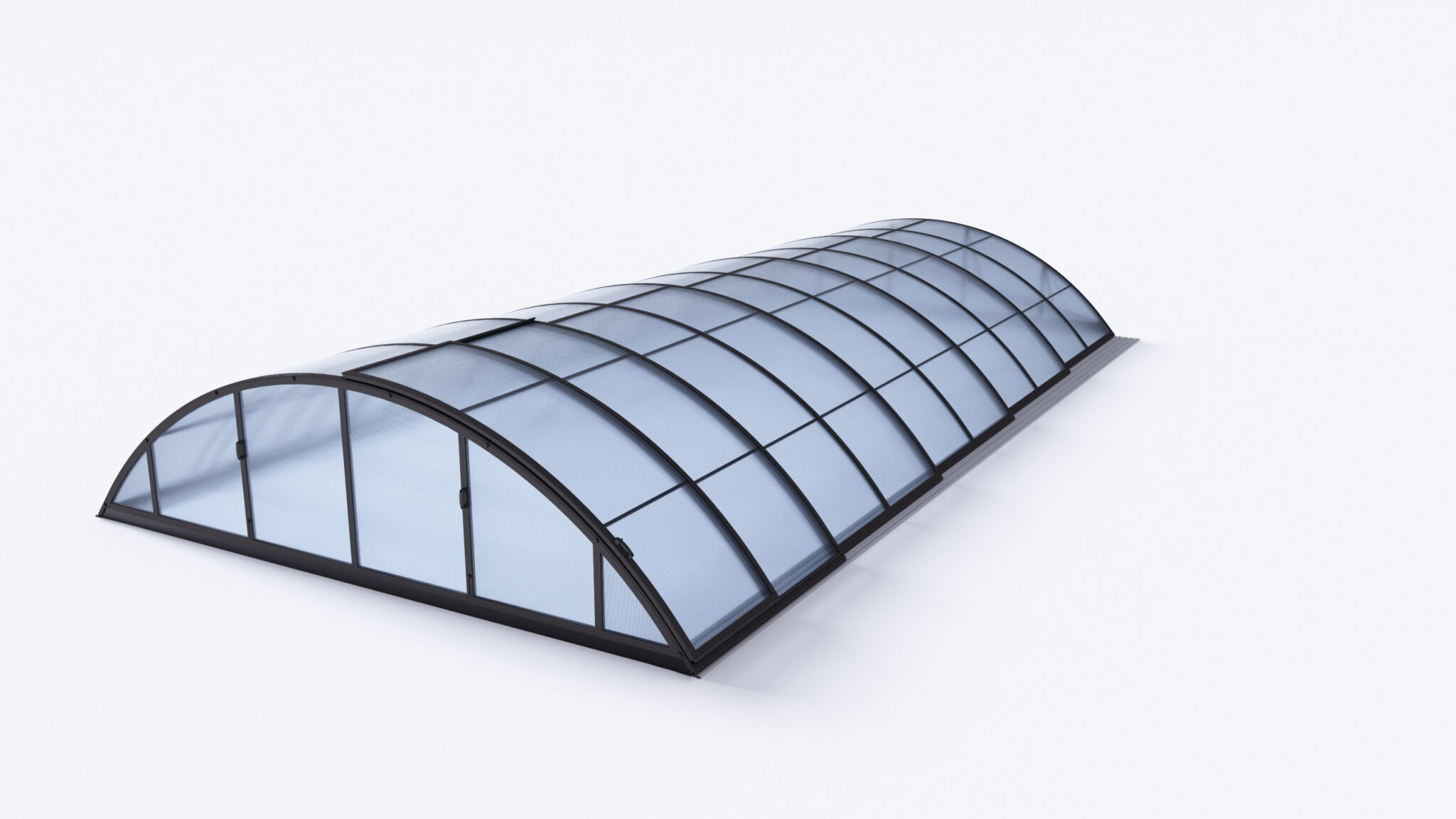 Baseino uždengimas KLASIK-A, DB703 (333-361 x 646 x 100 cm), baseinas max. 319 x 635 cm