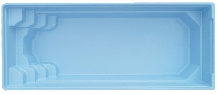 Stiklo pluošto baseinas AquaFiber Kreta 7,00mx3,10mx1,50m. Turime sandėlyje!